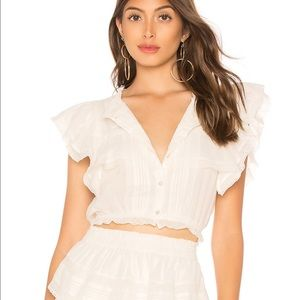 LoveShackFancy Nora top antique white